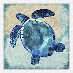 Found it at Wayfair - Sea Turtle Framed Painting Print                                                                                                                                                      More