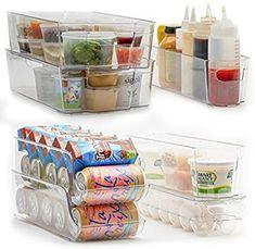 Amazon.com: 7-Piece Refrigerator and Freezer Storage Bin Set with Handles | Household and Kitchen Organization | High Quality Heavy Duty Plastic | BPA-Free: Home & Kitchen