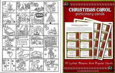 ❤ this!   Can you guess the Christmas songs from the pictures?  How fun would this reverse Pictionary game be at a Christmas party. Hold up the picture and have the room guess what song it is.  You can even split up in teams and enjoy a little competition.   This isn't the best picture – so if any of you talented artists recreate this ~ be sure to send it to me!  {snicker}