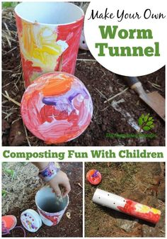Play Based Learning! Find out how to introduce children to the concepts of sustainability and composting with this easy worm tunnel project for the garden. See all the steps at The Empowered Educator - this is a wonderful sustainable practice activity for homeschool and early childhood educators as well as parents!