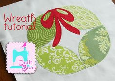 Sew Sweetness: '12 Days of Christmas' Block 11: Wreath