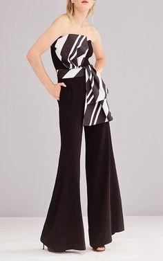 a117e2a1cc1 Dela Strapless Flared Jumpsuit by SACHIN   BABI for Preorder on Moda  Operandi Black White Fashion