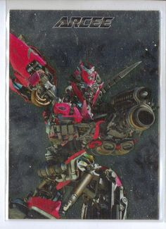 2011 Transformers Dark of the Moon Trading Card Metal Collection Arcee MC-09