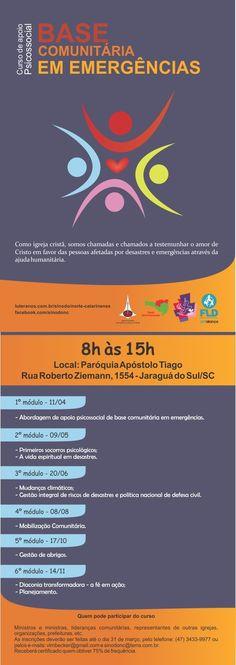 Flyer Frente e Verso - Curso de Apoio Psicossocial de Base Comunitária em Emergências APBC
