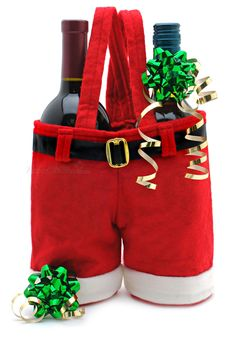 Elegant christmas gift christmas decoration of coke bottle cover red wine set candy bags Free shipping US $24.68