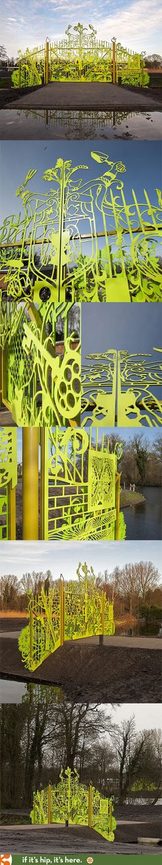Tjep designs two cool entrance gates for a school garden in Amsterdam.
