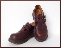 Vintage Brown Leather Dr. Marten Mary Jane's UK sz. 6 by AmandelOe, $38.00