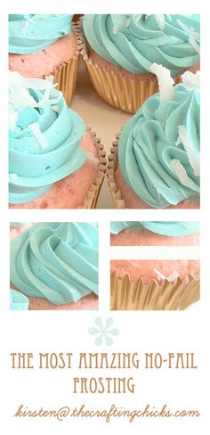 The **MOST** Amazing No-Fail CUPCAKES FROSTING! Im not one for box mixes but the frosting looks yummy