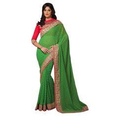 Designer Party Wear Green Saree-7709(ST-MOHINI)