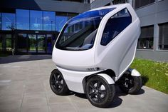 Este pequeño coche eléctrico puede conducir de lado y reducir su tamaño  Vehículos coches eléctricos futuro tecnología