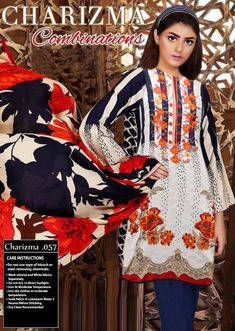 CHARIZMA Light Party Wear And Formal Wear at Retail and whole sale prices at Pakistan's Biggest Replica Online Store New Pakistani Dresses, Pakistani Lawn Suits, Pakistani Designer Suits, Pakistani Dress Design, Pakistani Salwar Kameez Designs, Beautiful Dresses For Women, Winter Outfits, Winter Clothes, Designer Collection