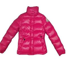 France Moncler Clairy Down Dark Pink Jacket Women Outlet