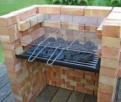 comment construire barbecue en brique terrasse bois