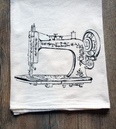 Vintage Sewing Machine Kitchen Towel
