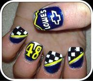nail art - Nascar #48 (Johnson)    Pretty AWESOME!
