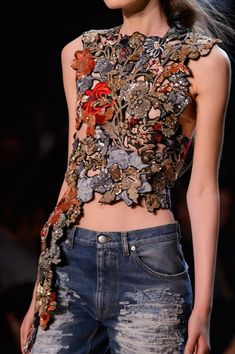 Paradise Found — fashionfeude:   Detail at Alexander McQueen Spring...