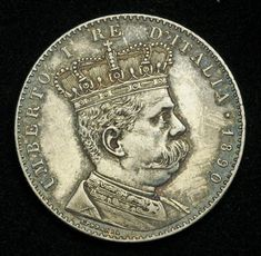 Eritrea Italian Colony 2 Lire Silver Coin of 1890, King Umberto I. Italian coins, Italian Coinage, Italian silver coins, Numismatic Collection, Coins of Italy best silver coins for investment.