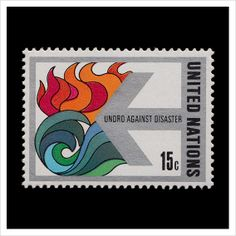 UNDRO (United Nations Disaster Relief Organization) Against Disaster, 1978 Postage Stamp Design, Postage Stamps, Going Postal, Love Stamps, Relief, Small Art, Grafik Design, Stamp Collecting, Design Crafts