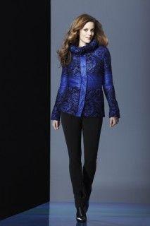 Blue ribbon coat and black pant. Tribal Fashion, Blue Ribbon, Black Pants, Sportswear, Autumn Fashion, Ruffle Blouse, Coat, Inspiration, Collection