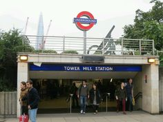 Tower Hill London Underground Station in Tower Hill, Greater London