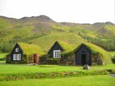What neat sod roofed homes! These would be great little guest houses.