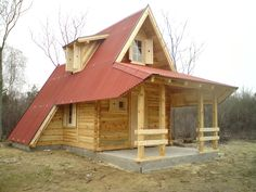 Log home floor plans canada new 34 superb tiny house movement in canada design Log Cabin House Plans, Small Cabin Plans, Small Cottage House Plans, Shed To Tiny House, Log Home Floor Plans, Small Log Cabin, Beach House Plans, Log Cabin Homes, Small Cabins