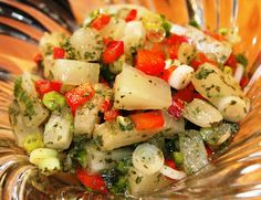 Sandra's Recipes - Alaska: Beer N' Honey Pineapple Salsa Recipe...