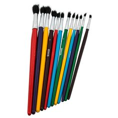 Bazic Products 3415-144 All Purpose Brush Set Assorted Sizes 12-count