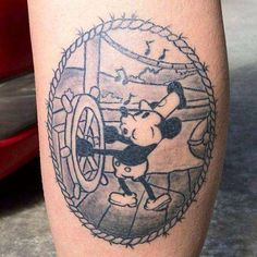 Steamboat Mickey Looks Great in Ink