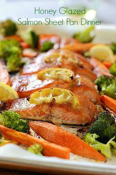 Honey Glazed Salmon Sheet Pan Dinner