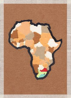 'africa flag' handmade postcard designs #postcard #handmade #paper #craft #southafrica Africa Flag, Paper Craft, Postcards, Handmade, Hand Made, Craft, Papercraft, Greeting Card, Handarbeit