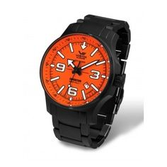 Vostok-Europe Expedition North Pole Automatic Watch with Brilliant Orange Dial 5954197 Casual Watches, Cool Watches, Watches For Men, Limited Edition Watches, Europe, Watch Companies, North Pole, Automatic Watch, Sport Watches
