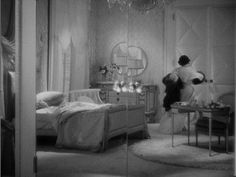1930s Decor   Mrs. J.B. Ball giving chase through her bedroom with the sable that ...