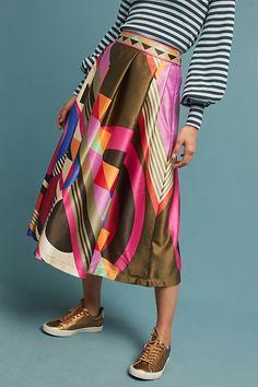 Fitzroy Midi Skirt | Anthropologie