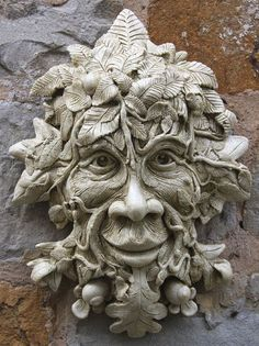 Mythical beings - Garden Ornaments : Green Man Garden Ornaments : Stone Garden Ornament 'Meredith Tree Man' Green Man, Keramik Design, Ceramic Mask, Tree Faces, Wow Art, Unique Gardens, Sculpture Clay, Abstract Sculpture, Bronze Sculpture