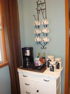My Blissful Space: Coffee Bar I want a space just for my coffee. (-=