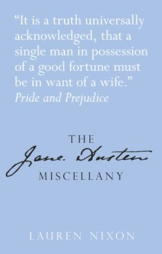The Jane Austen Miscellany | Entertaining and occasionally shocking facts and trivia about Austen's life and work