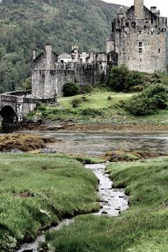 ~Eilean Donan Castle - Scotland; At the confluence of Loch Duich, Loch Long and Loch Alsh~
