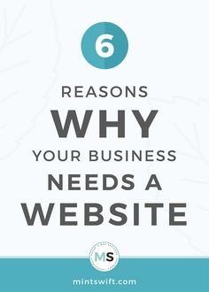 Read about 6 reasons why your business needs a website. Thinking about the ways to grow your business & credibility? A website can help you with that! Collateral Design, Brand Identity Design, Logo Design, Graphic Design, Business Checks, Business Tips, Online Business, Blog Website Design, Making Money On Youtube