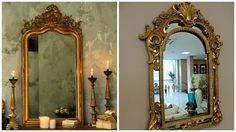Molduras para refletir a decoração! Há muitas possibilidades para um espelho, na Marche nós temos várias! Que tal este? #produtomarche #espelho #decoracao #espelhodourado  #marcheobjetos