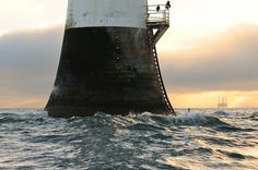 The tide rushes in at the Bell Rock lighthouse (12 miles off Arbroath), Angus, Scotland by iancowe, via Flickr