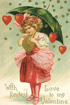 One of the postcards from the Cavallini Vintage Postcard set. #ValentinesDay #love
