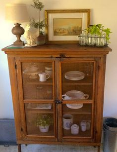 Homestead Revival: Pie Safe Love! Farmhouse kitchen decor.