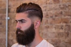 Low-Taper-Fade-Men-Hairstyle-with-Beard