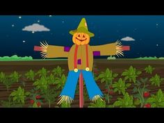 Dingle Dangle Scarecrow Rhyme | Dingle Dangle Scarecrow Nursery Rhyme with lyrics - YouTube