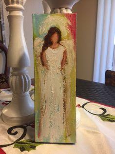 Angel Painting Scripture Art Trust Original Painting by Florinda