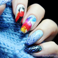 BunnyTailNails: Comfy Sweater Knitted Nails