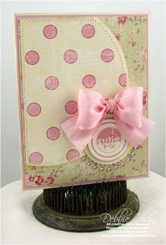 Babies and Bows, Oh My. (JustRite Tiny Words, Borders & Centers set) by Debbie Olson (includes tips on tying bows) Pretty Cards, Love Cards, Kids Cards, Baby Cards, Card Tags, Card Kit, Doodles, Scrapbook Cards, Scrapbooking