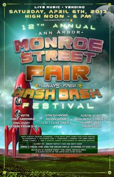 12th Annual Monroe Street Fair - Hash Bash Festival - Home Page