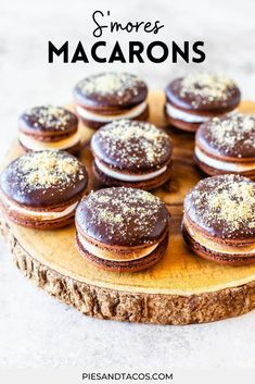 S'mores Macarons #summer #macarons #cookies #chocolate #frenchmacarons #glutenfree Delicious Cookie Recipes, Best Cookie Recipes, Best Dessert Recipes, Easy Desserts, Yummy Food, Healthy Food, Milk Chocolate Ganache, Chocolate Truffles, Chocolate Brownies